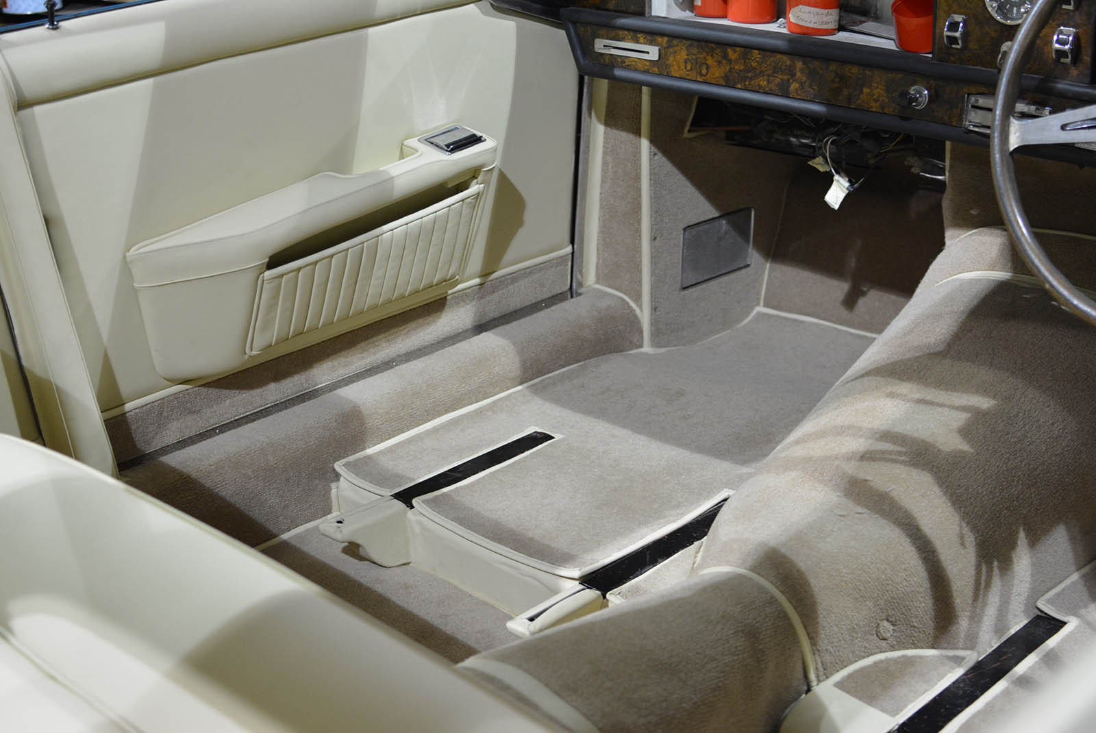Newly fitted carpets within the Aston Martin Lagonda Rapide