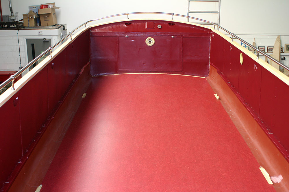 Bus3 - 1939 Bristol K upper deck with newly fitted lino
