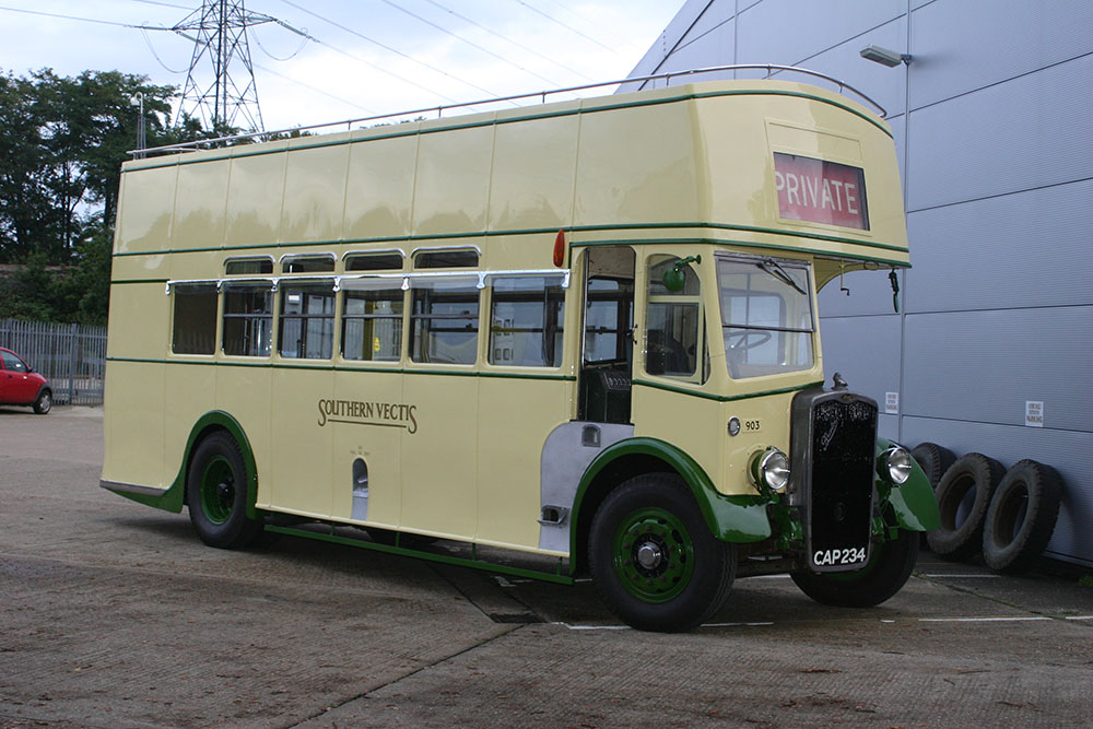 Bus7 - 1939 Bristol K freshly brush painted and sign written