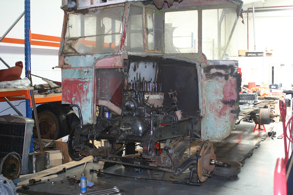 Full2 - 1929 Leyland Lion at the start of restoration work