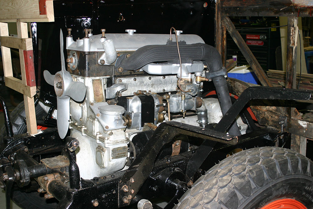 Full5 - 1929 Leyland Lion engine refitted back into chassis