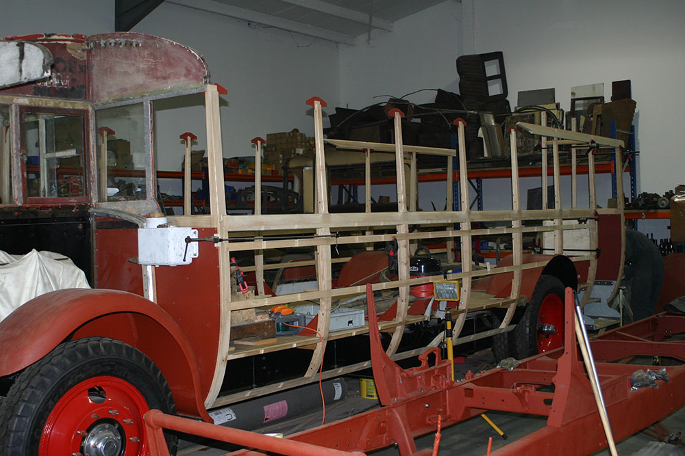 Full8 - 1929 Leyland Lion framework starting to take shape