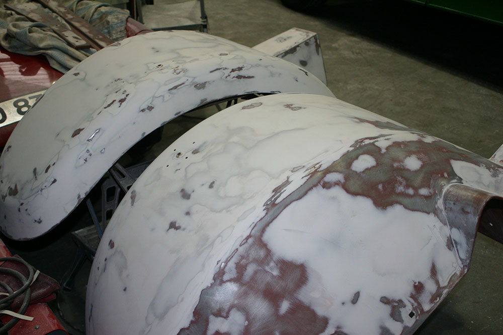 Paint8 - Two wings during paint prep work