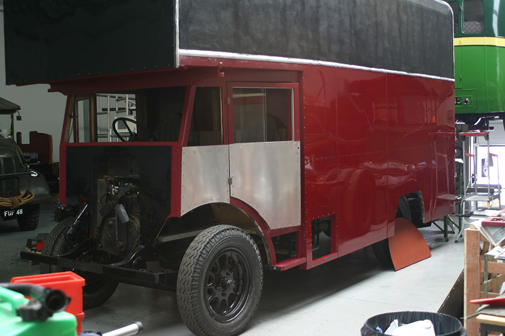Paint1 - 1934 Commer Raider showing brush painted panel work